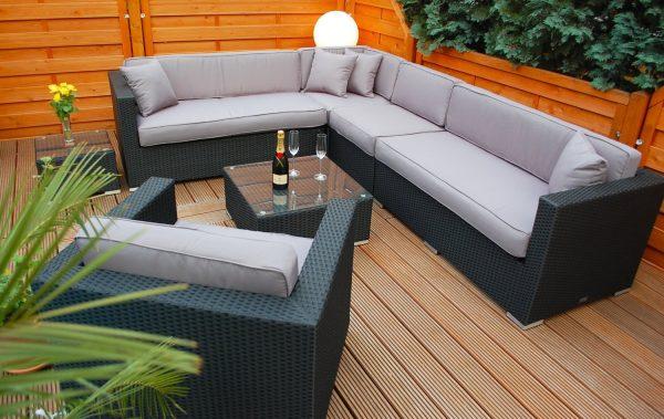 Lounge Sofa Narvik - sg - Gartensitzecke von oben